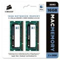 Corsair Apple Certified 16GB (2x8GB) DDR3 1333 MHz (PC3 10666) Laptop Memory (CMSA16GX3M2A1333C9)-package