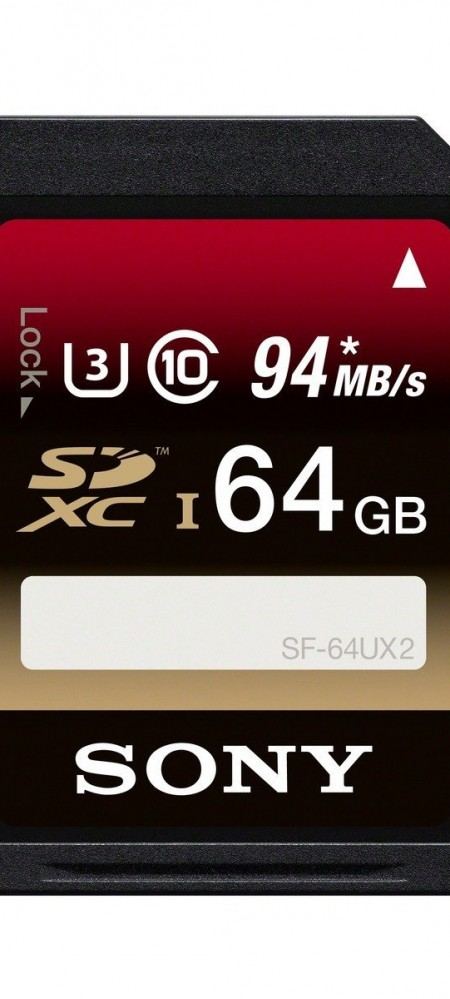Sony 64GB Class 10 UHS-1:U3 SDXC up to 94MB:s Memory Card-1